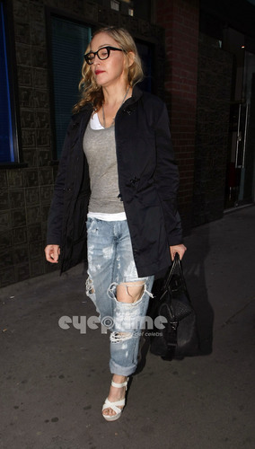 Мадонна pictured leaving a recording studio in Soho, London, June 8