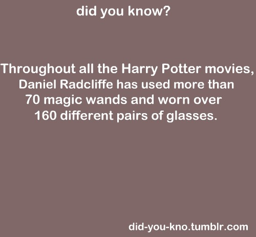 Magic Wands and Pairs of Glasses