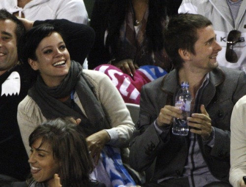 Matt Bellamy and Lily Allen