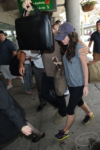 Megan - Departing from JFK Airport - July 13, 2011