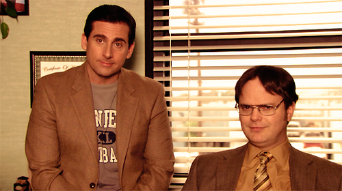 Michael and Dwight