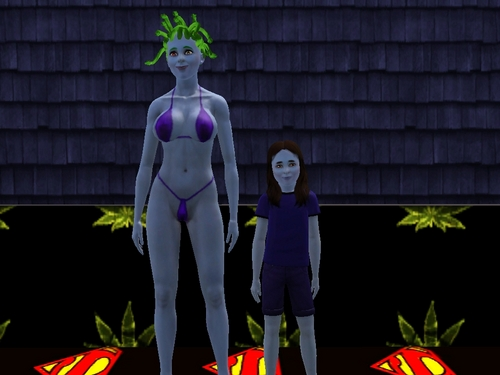 """The Sims 3 wallpaper called My Family - """"HORRORLAND"""""""