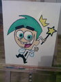 My painting of Cosmo  - the-fairly-oddparents fan art