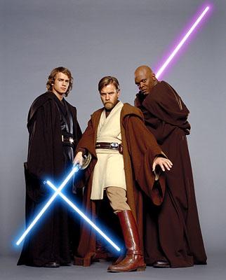 Obi wan, Anakin, Mace