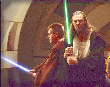 Obi-wan and Qui-Gin