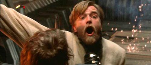 Obi-wan dueling Anakin:'(
