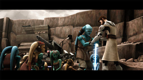 Obi-wan saving villagers on Ryloth!