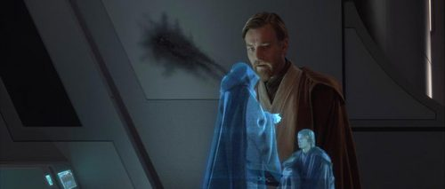 Obi-wan watching anakin becoming Darth Vader:'(