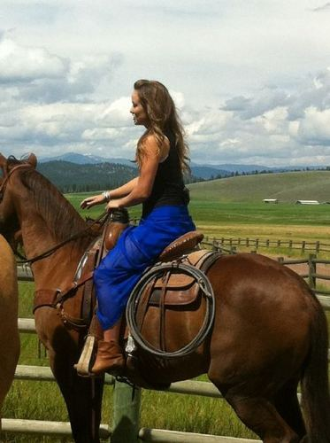 Olivia Horseback in Montana