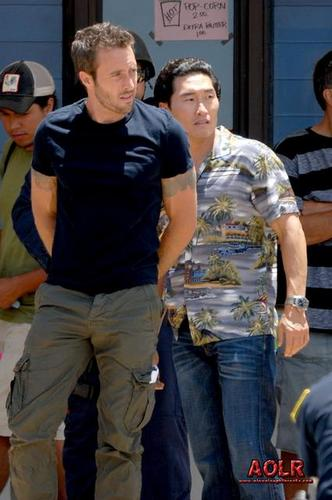 On the Hawaii Five-0 set - July 14, 2011