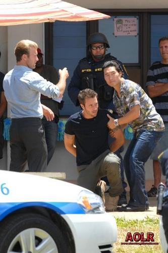 On the Hawaii Five-0 set - July 14, 2011