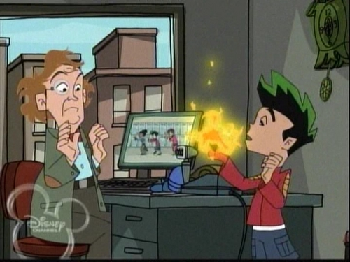 American Dragon: Jake Long achtergrond containing anime entitled Oops, he did it again ;)