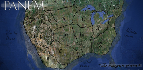 The Hunger Games wallpaper probably with a sign entitled Panem Map