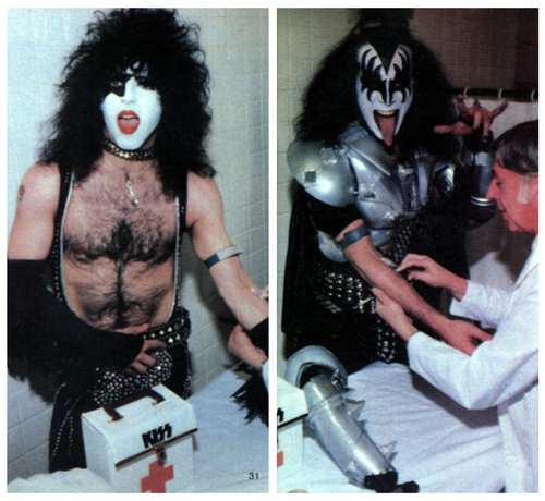 KISS wallpaper probably with a tabard entitled Paul & Gene