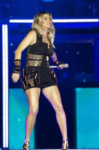 Performs At Vicente Calderon Stadium In Madrid 14 07 2011
