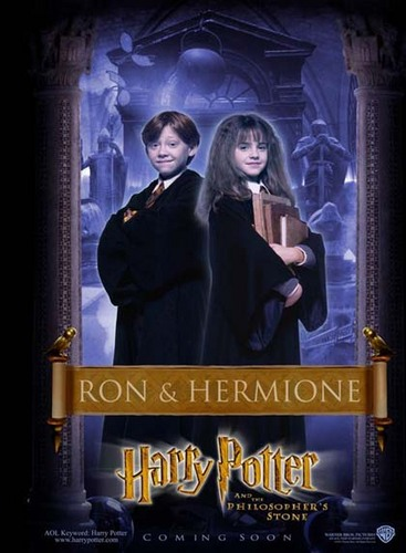Philosopher's Stone Character Poster - Ron and Hermione