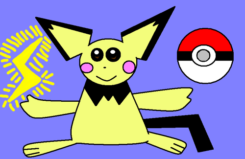 Pichu and PokeBall Fanart