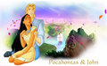 Pocahontas and John - pocahontas wallpaper