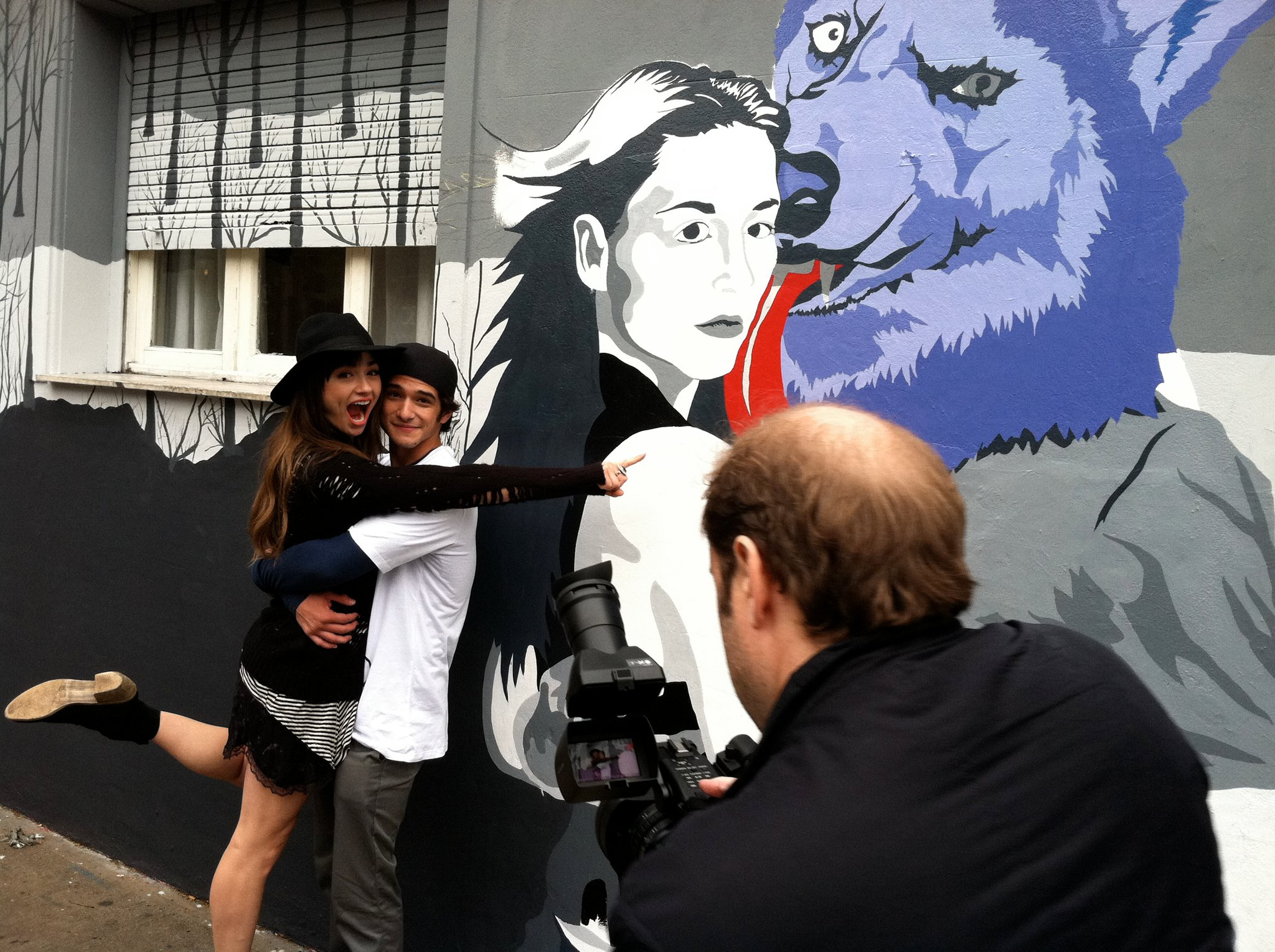 Tyler Posey Crystal Reed Images Promoting Teen Wolf In Argentina