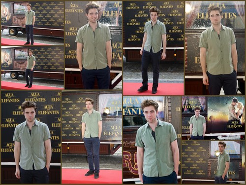 Rob at Water for Elephants Barcelona press conference