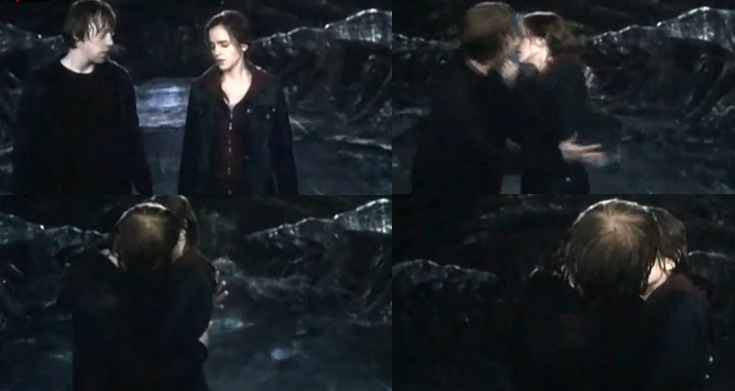 Ron hermione kiss harry potter photo 23753931 fanpop - Hermione granger and harry potter kiss ...