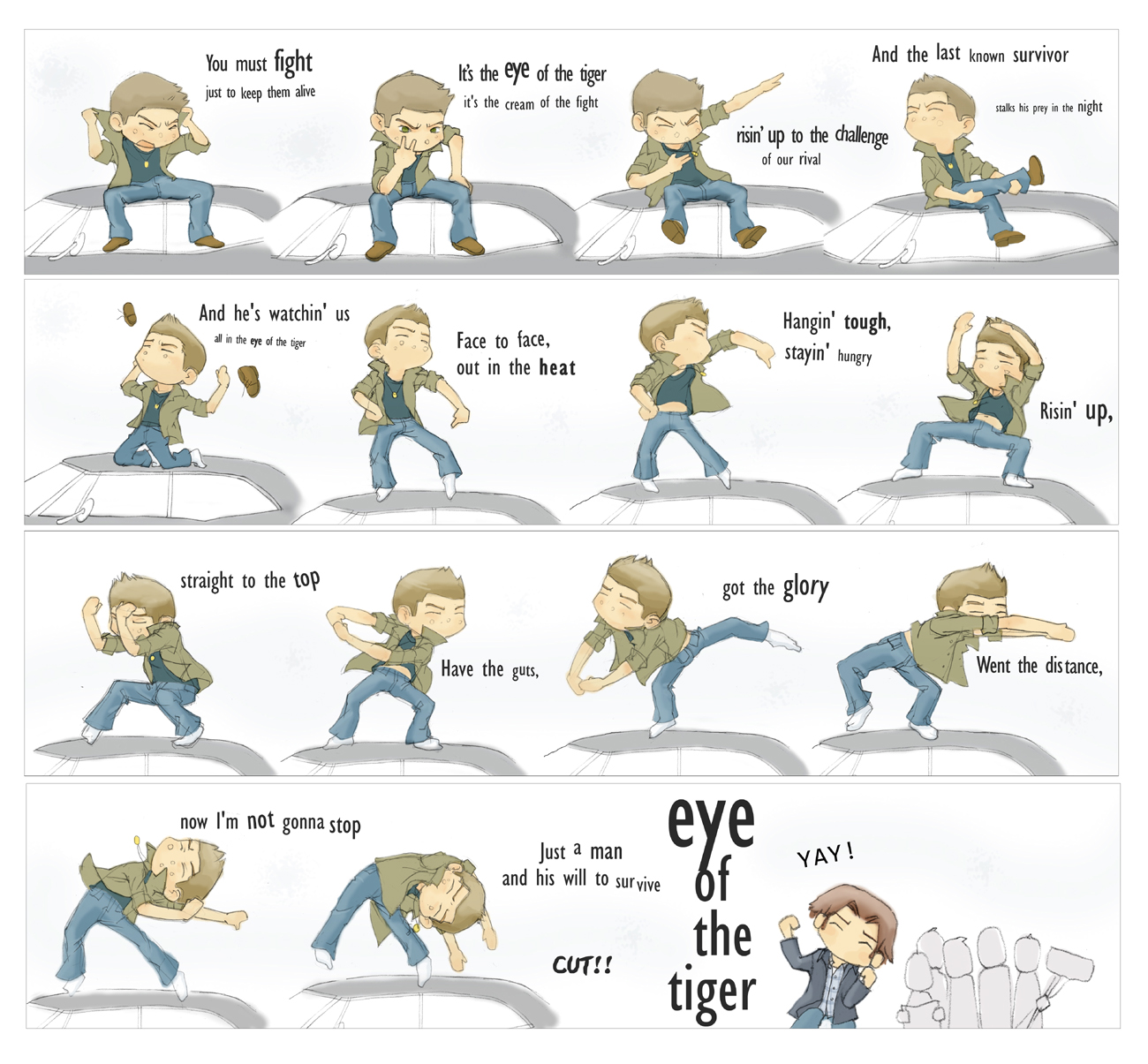 SPN Dean Winchester Eye of the Tiger