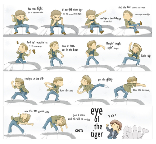 SPN Dean Winchester Eye of the Tiger - dean-winchester Photo