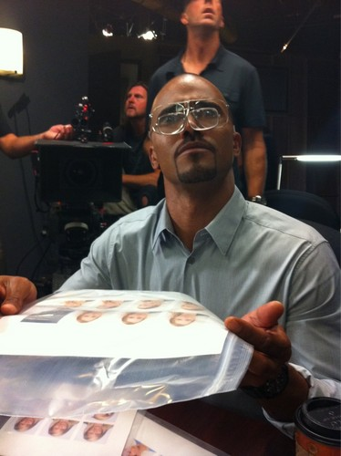 Shemar with goggles