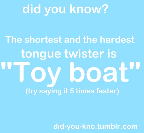Shortest and Hardest Tongue Twister