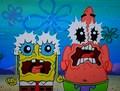 Spongebob & Patrick are scared