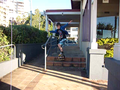 Stair Jump - skateboarding photo