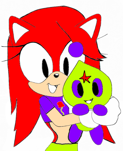Stephanie with her chao