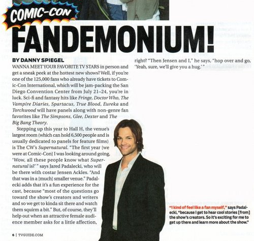 Supernatural - Season 7 - Comic-Con TV Guide Scan