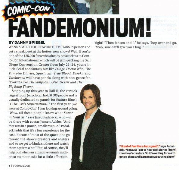 অতিপ্রাকৃতিক - Season 7 - Comic-Con TV Guide Scan