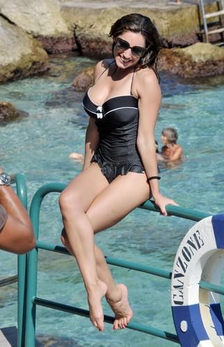 zwempak, badpak Candids in Ischia