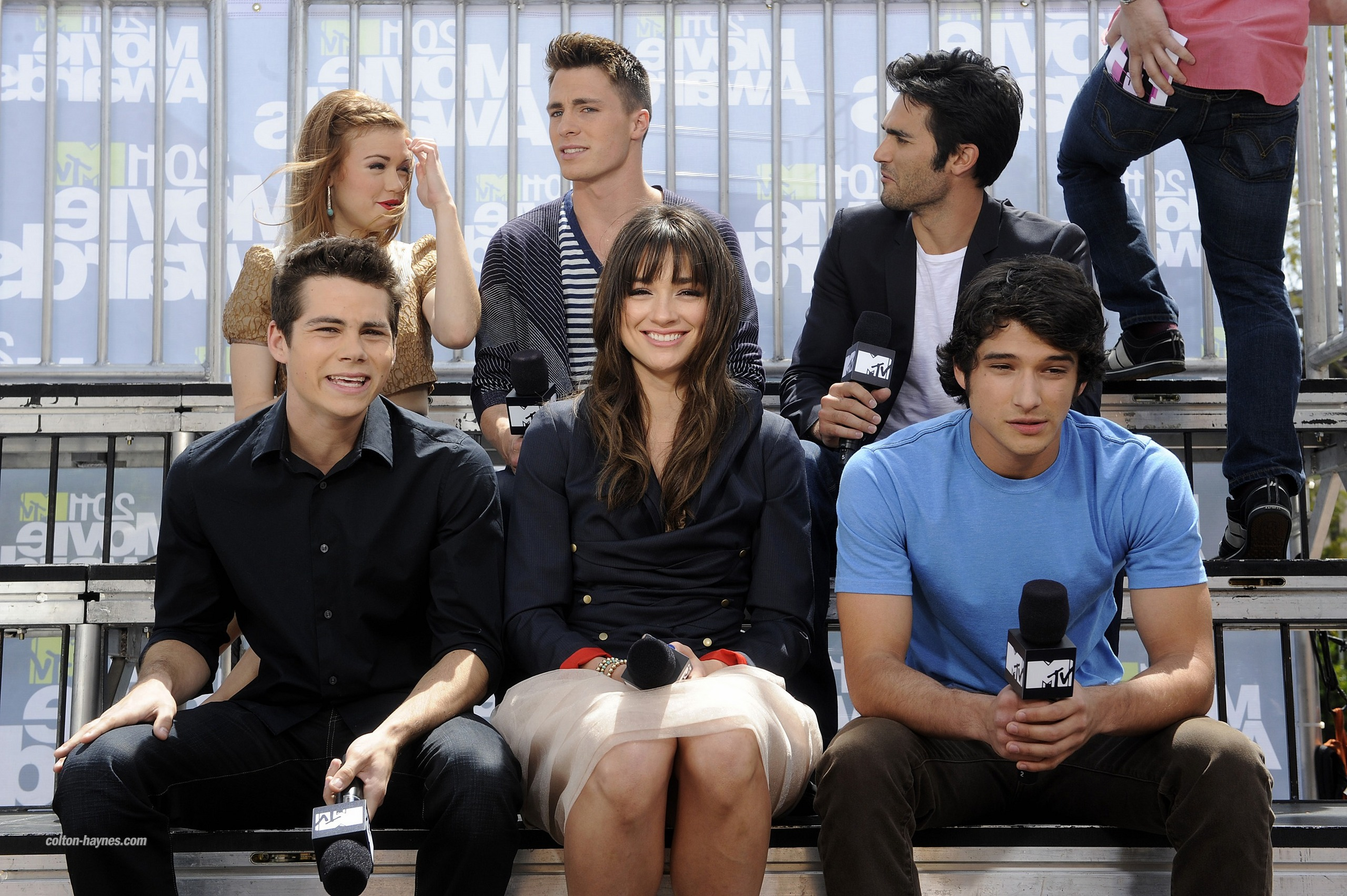 Tyler Posey Crystal Reed Images Teen Wolf Cast On Mtvs The Seven