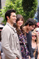 Teen Wolf cast at EXTRA at Grove Los Angeles - 02.06.11 - tyler-posey-and-crystal-reed photo