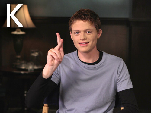 The ABC's in sign language with the cast