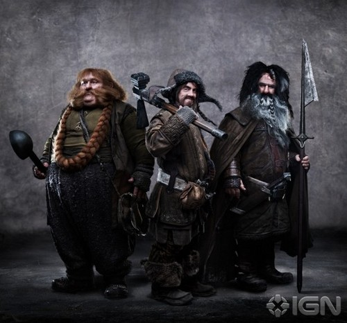 The Hobbit - First Official Promo Pic of Bombur, Bofur, and Bifur