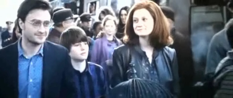 The Potter family (Harry Ginny and Albus)