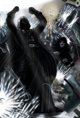 bintang Wars: Revenge of the Sith wallpaper entitled The Rise of Lord Vader