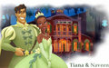 Tiana and Naveen - the-princess-and-the-frog wallpaper