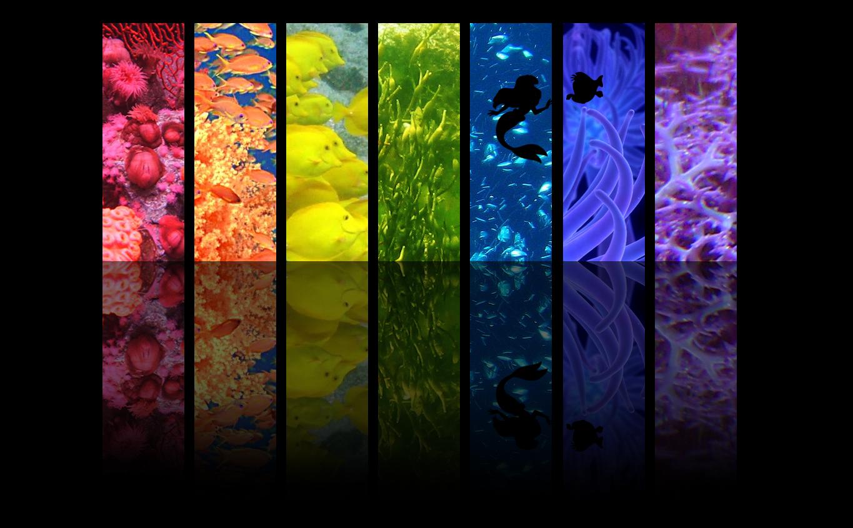 underwater rainbow ariel disney princess fan art