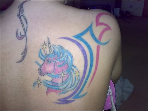 Unicorn tatoos