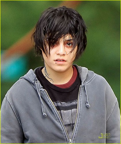 "Vanessa on set ""Gimme Shelter"""
