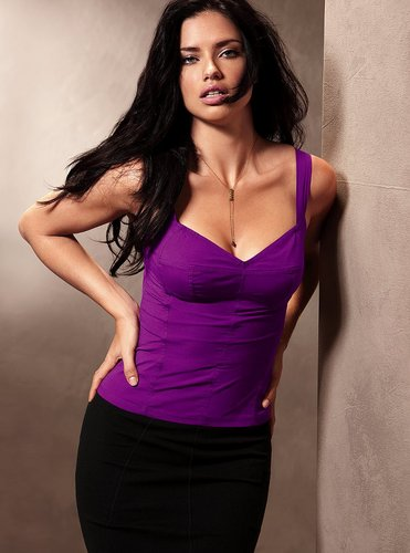 Adriana Lima wallpaper probably containing a bustier entitled Victoria's Secret Lingerie Photoshoot