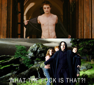Harry Potter Vs. Twilight wallpaper titled What the...