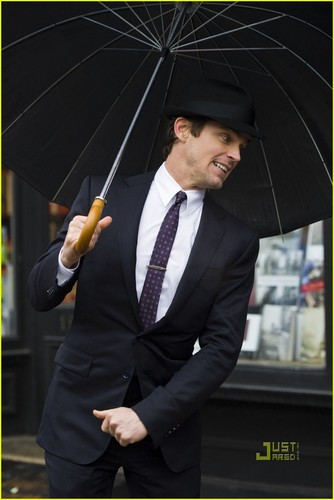 White Collar wallpaper containing a business suit and a parasol called White Collar
