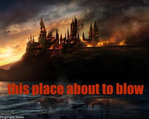 hogwarts burning
