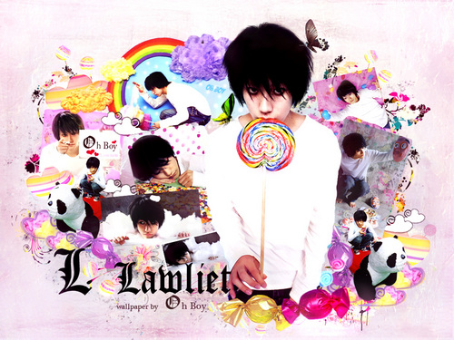 L wallpaper titled lawliet